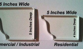 6 inch gutters vs 5 inch