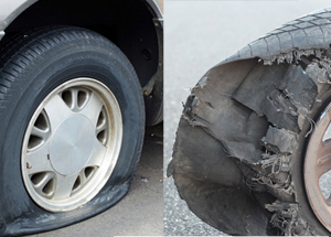Flat-Tires-vs-Blowout
