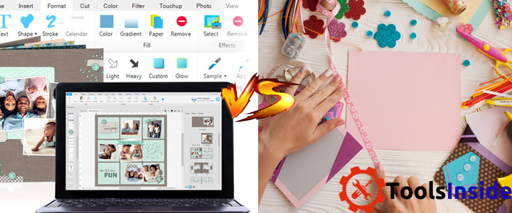 Digital Scrapbooking vs Traditional Scrapbooking